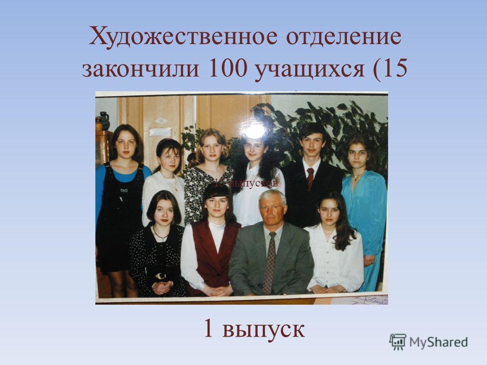 Художественное отделение закончили 100 учащихся (15 выпусков) 1 выпуск 15 выпусков