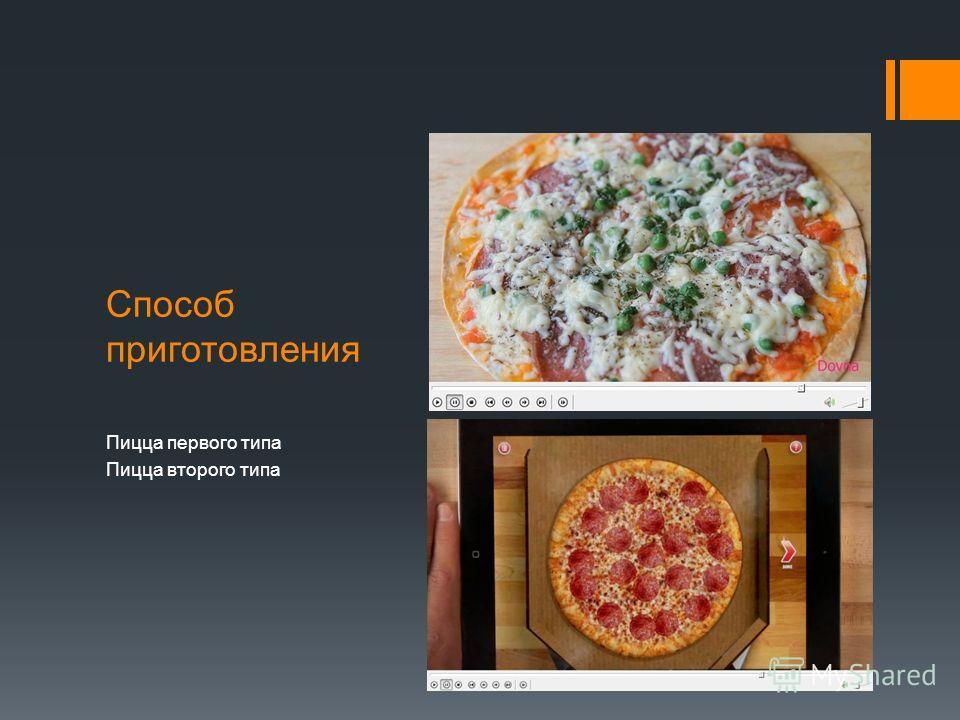 Способ приготовления пиццы