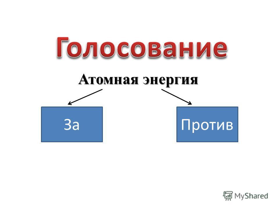 Атомная энергия ЗаПротив