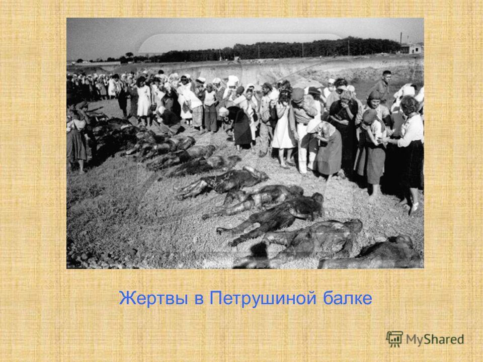 Жертвы в Петрушиной балке