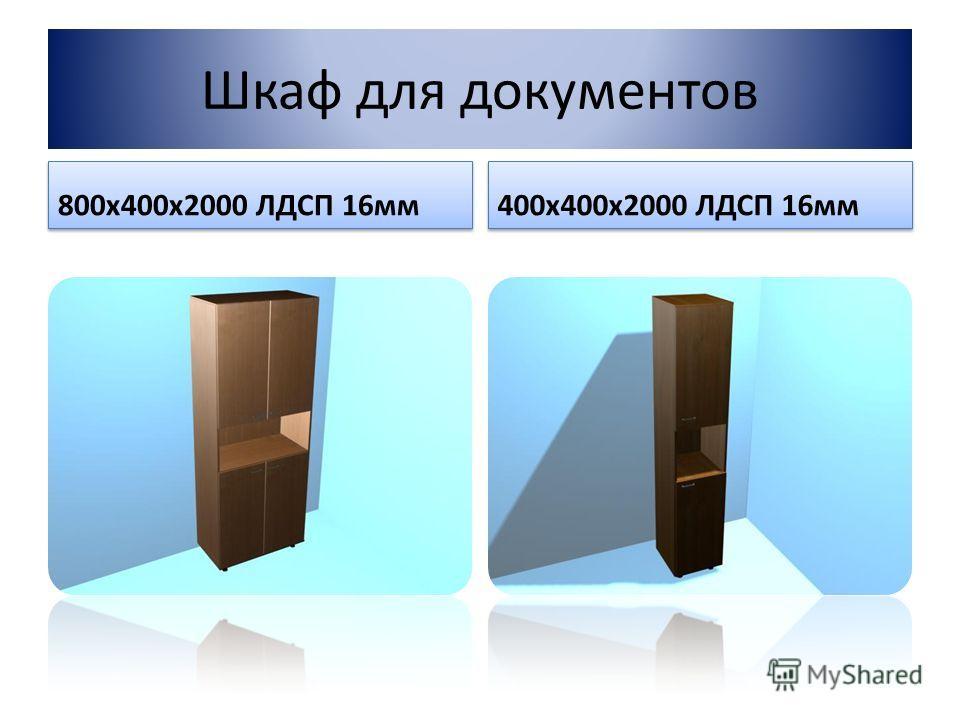 Шкаф для документов 800х400х2000 ЛДСП 16мм 400х400х2000 ЛДСП 16мм