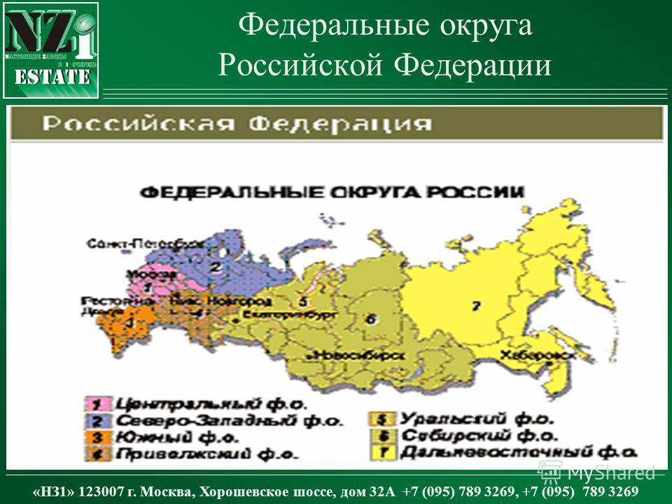 «НЗ1» 123007 г. Москва, Хорошевское шоссе, дом 32А +7 (095) 789 3269, +7 (095) 789 3269 Федеральные округа Российской Федерации