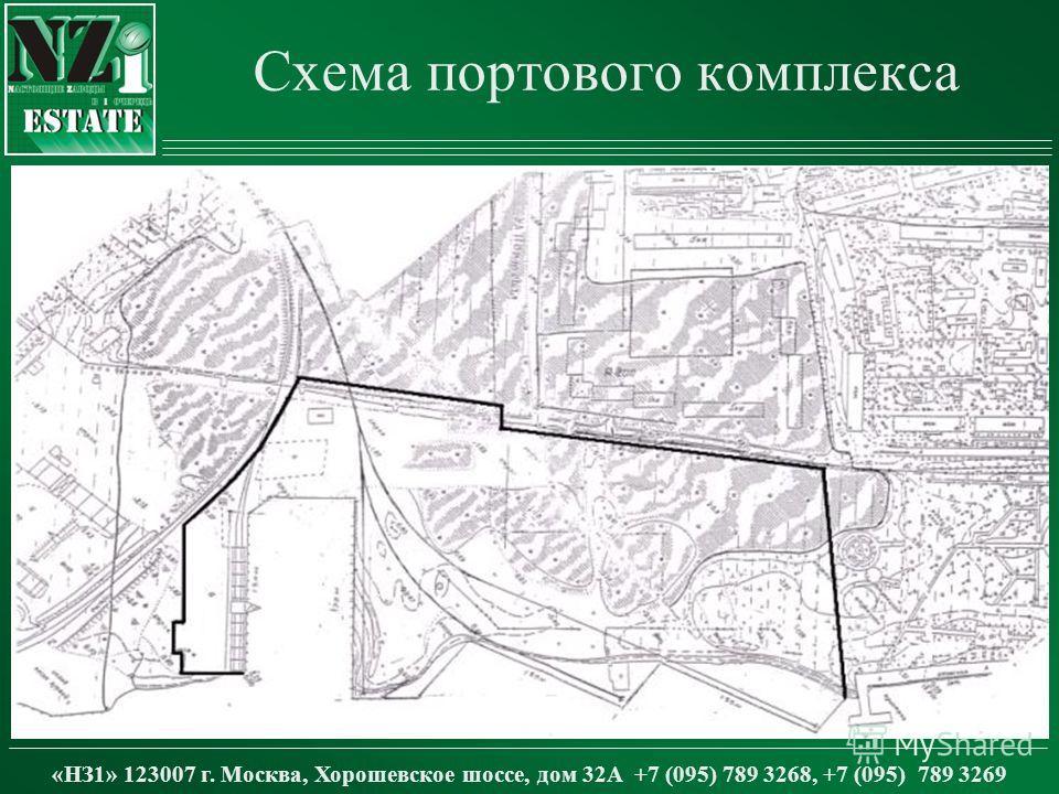 Схема портового комплекса «НЗ1» 123007 г. Москва, Хорошевское шоссе, дом 32А +7 (095) 789 3268, +7 (095) 789 3269