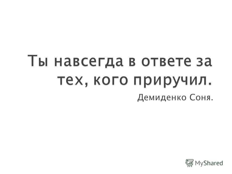 Демиденко Соня.