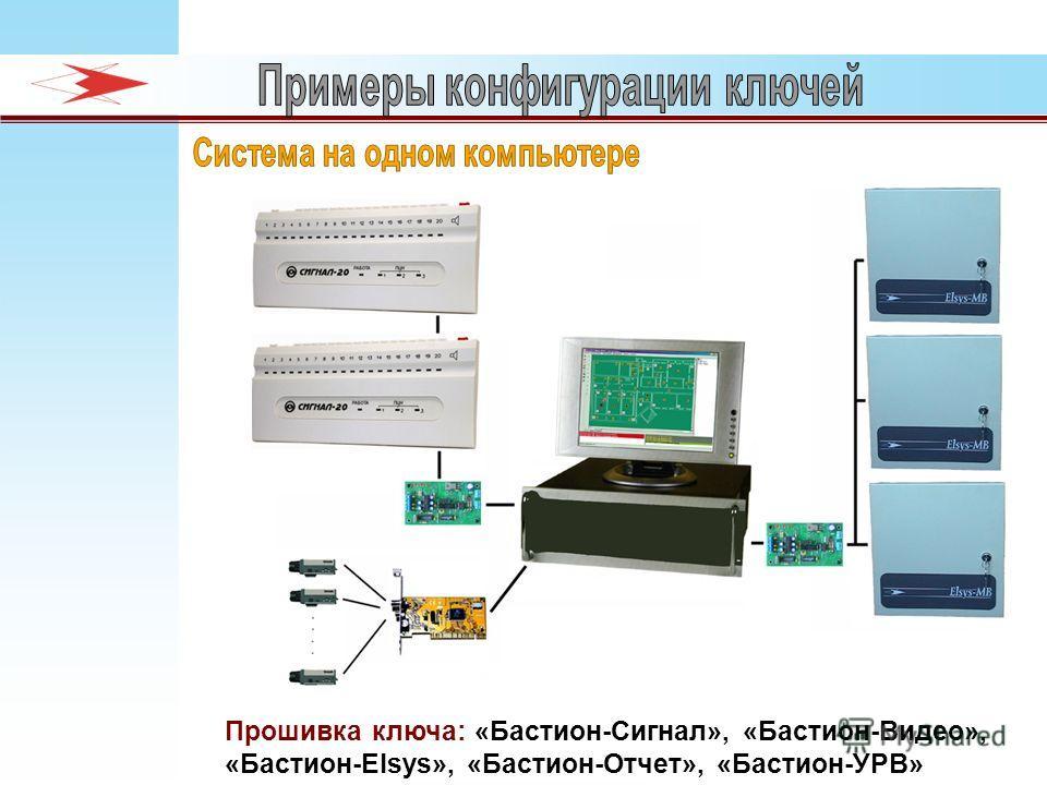Прошивка ключа: «Бастион-Сигнал», «Бастион-Видео», «Бастион-Elsys», «Бастион-Отчет», «Бастион-УРВ»