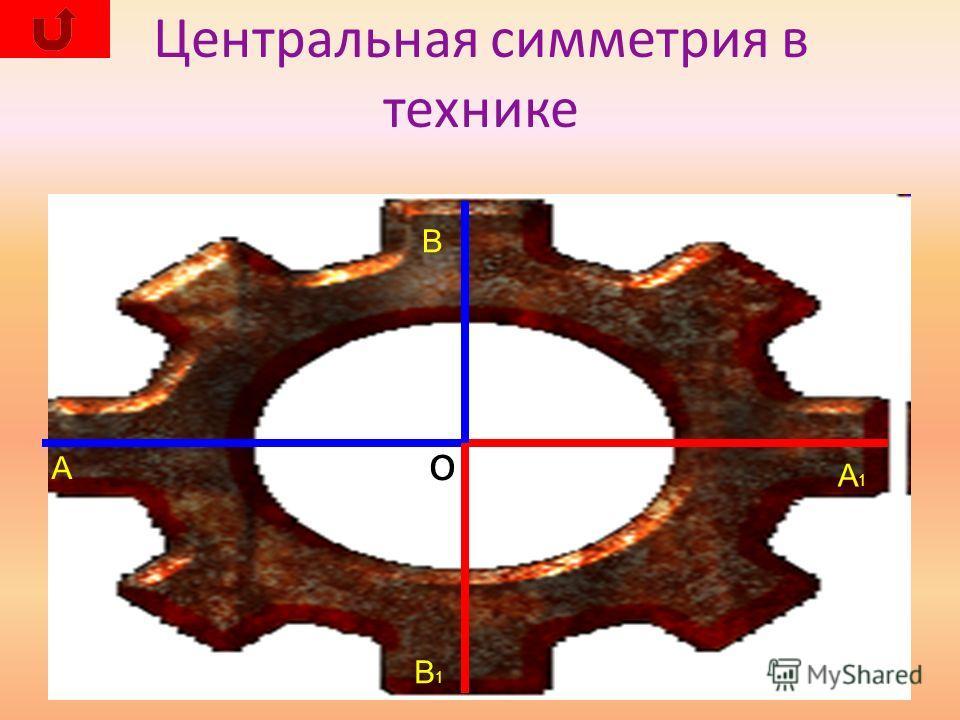Центральная симметрия в технике о А В В1В1 А1А1
