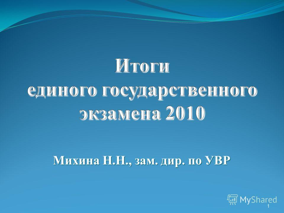 Михина Н.Н., зам. дир. по УВР 1