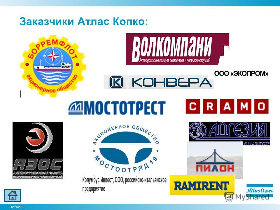 12/20/2013 Заказчики Атлас Копко: