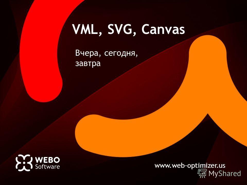 www.web-optimizer.us VML, SVG, Canvas Вчера, сегодня, завтра