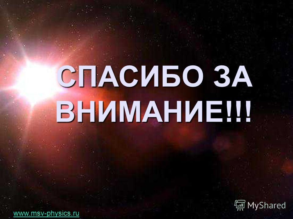 СПАСИБО ЗА ВНИМАНИЕ!!! www.msv-physics.ru