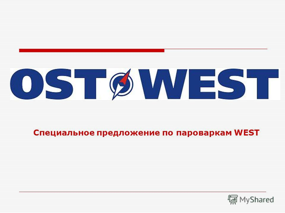 Специальное предложение по пароваркам WEST