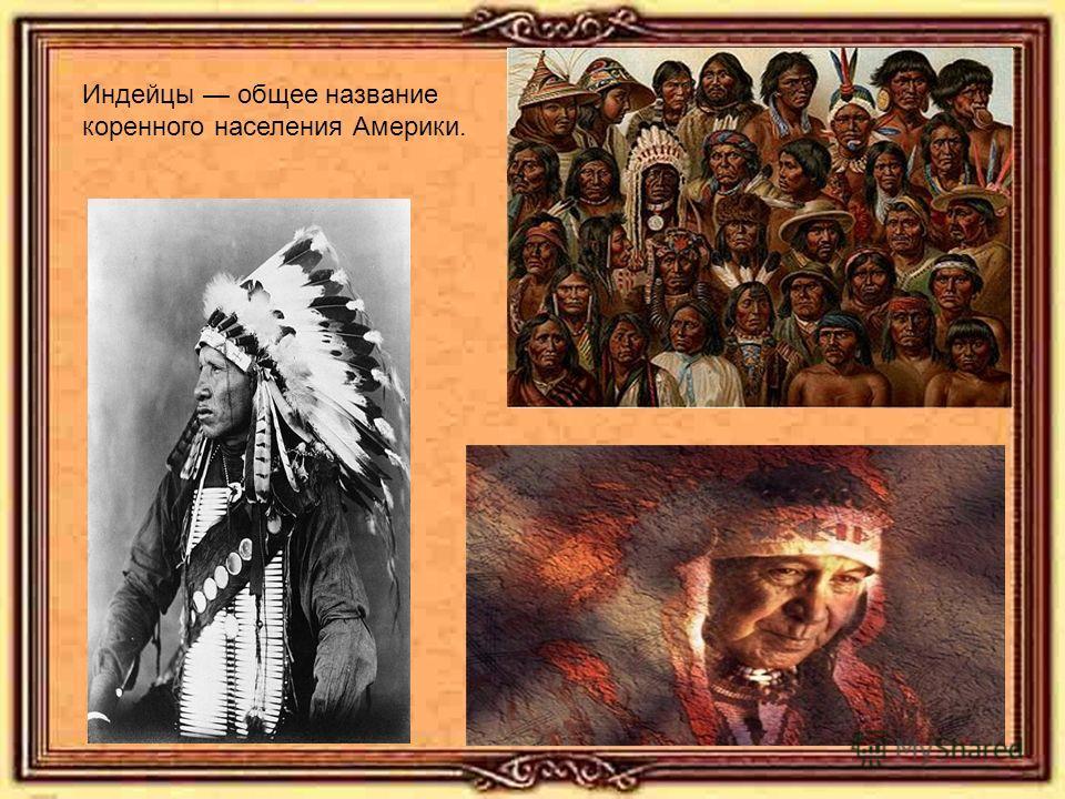 Индейцы общее название коренного населения Америки.
