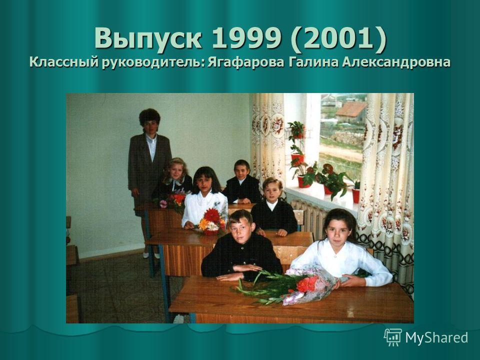 Выпуск 1999 (2001) Классный руководитель: Ягафарова Галина Александровна