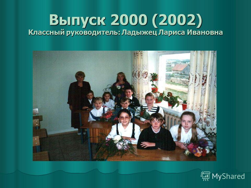 Выпуск 2000 (2002) Классный руководитель: Ладыжец Лариса Ивановна