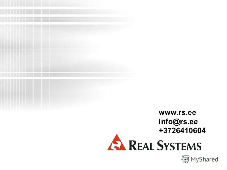www.rs.ee info@rs.ee +3726410604