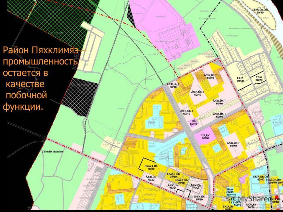 Район Пяхклимяэ – промышленность остается в качестве побочной функции.