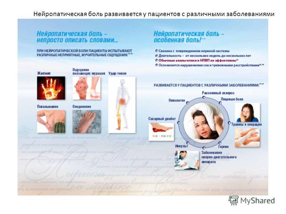 Нейропатическая боль развивается у пациентов с различными заболеваниями