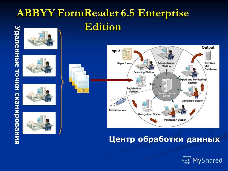 ABBYY FormReader 6.5 Enterprise Edition Удаленные точки сканирования Центр обработки данных
