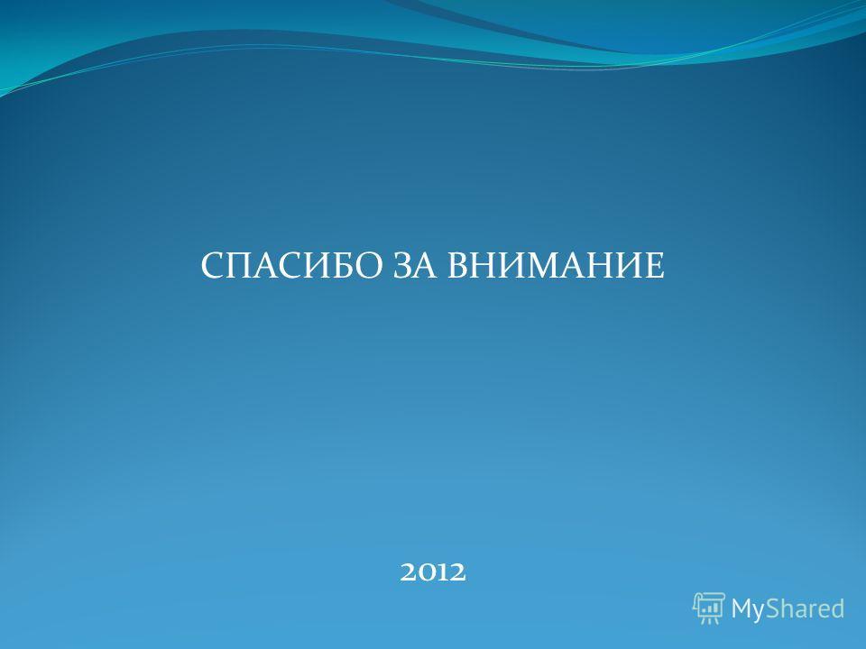 СПАСИБО ЗА ВНИМАНИЕ 2012