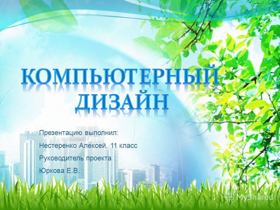 Презентацию выполнил: Нестеренко Алексей, 11 класс Руководитель проекта : Юркова Е.В.