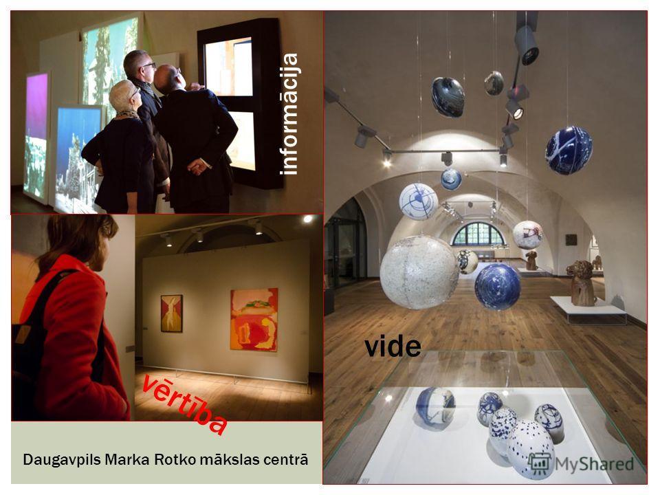 Daugavpils Marka Rotko mākslas centrā vide vērtība informācija