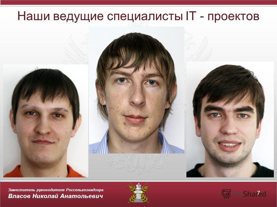 Заместитель руководителя Россельхознадзора Власов Николай Анатольевич Наши ведущие специалисты IT - проектов 7