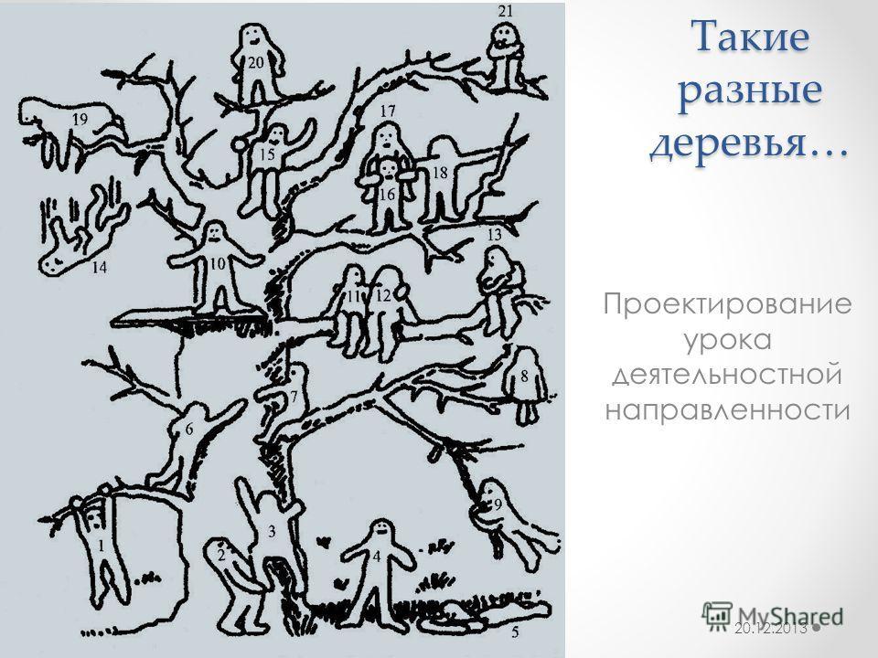 Такие разные деревья… Проектирование урока деятельностной направленности 20.12.2013