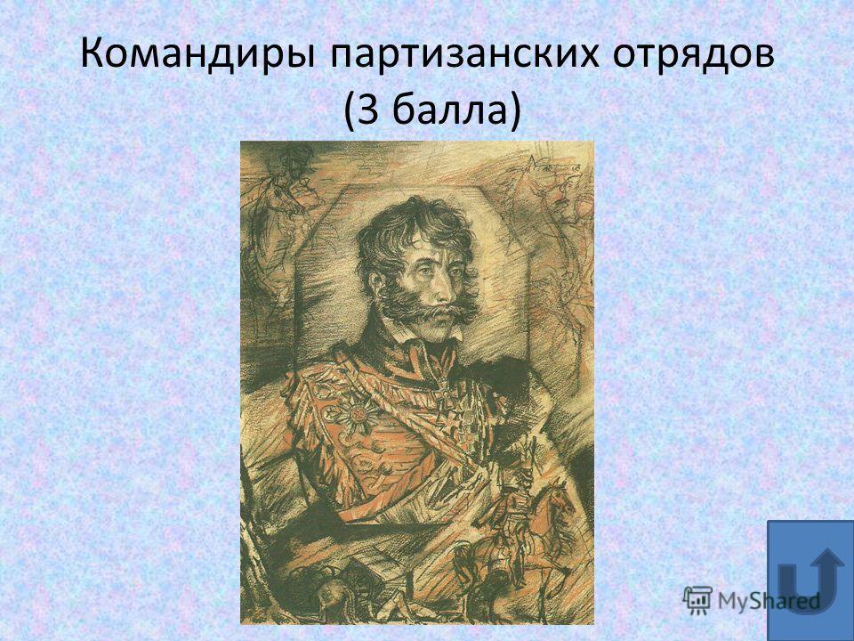 Командиры партизанских отрядов (3 балла)