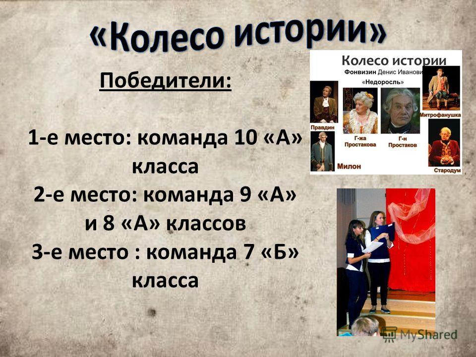 Победители: 1-е место: команда 10 «А» класса 2-е место: команда 9 «А» и 8 «А» классов 3-е место : команда 7 «Б» класса