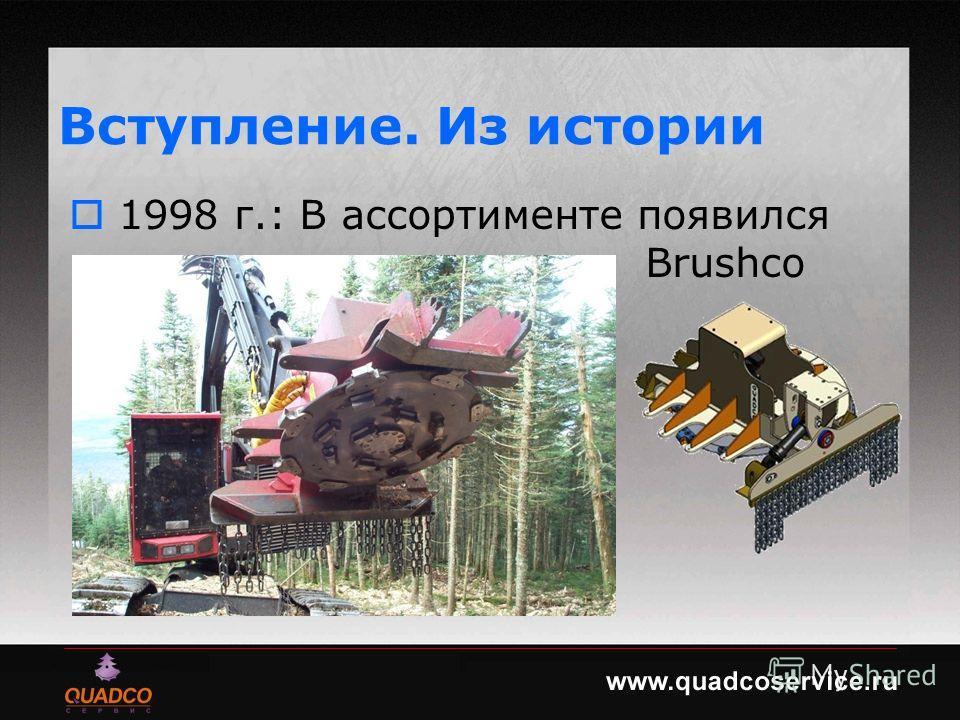 Вступление. Из истории 1998 г.: В ассортименте появился Brushco