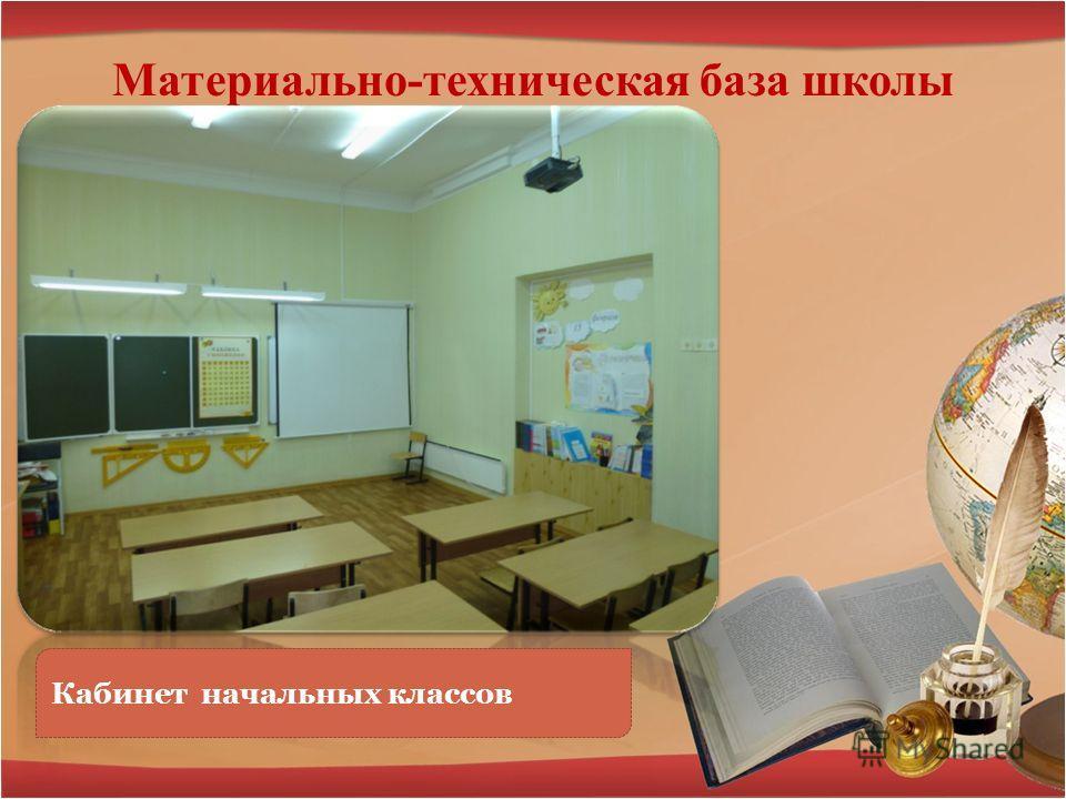 Материально-техническая база школы Кабинет начальных классов