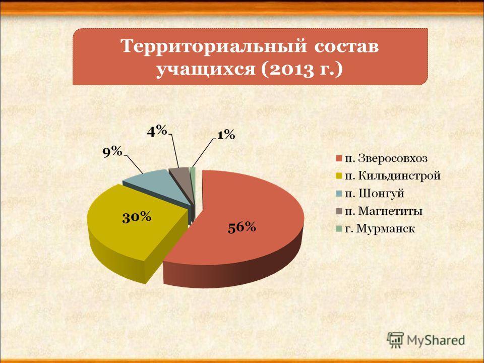 Территориальный состав учащихся (2013 г.)