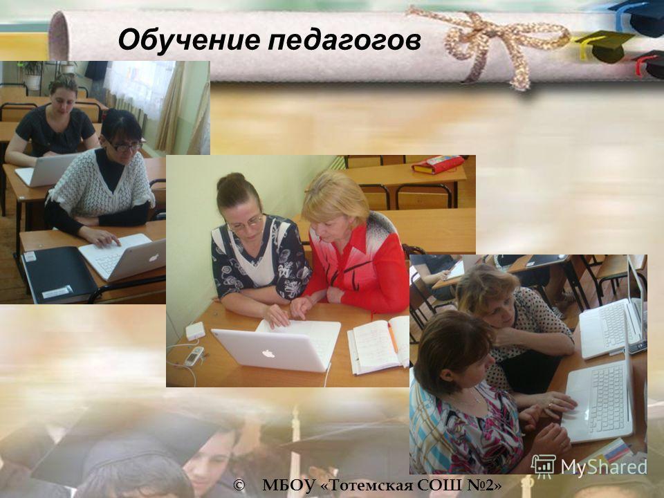 © МБОУ «Тотемская СОШ 2» Обучение педагогов