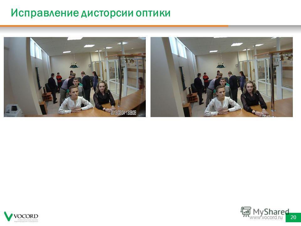 Исправление дисторсии оптики www.vocord.ru20