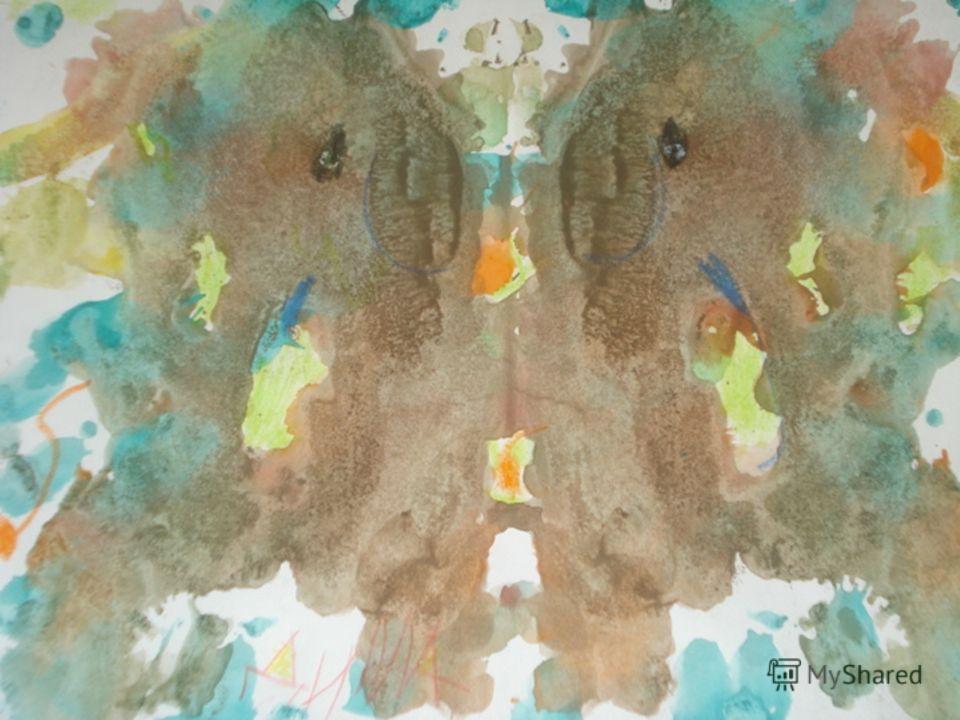 Монотипия предметная Возраст: от пяти лет. Средства выразительности: пятно, цвет, симметрия. Материалы: плотная бумага любого цвета, кисти, гуашь или акварель. Способ получения изображения: Ребенок складывает лист бумаги вдвое и на одной его половине
