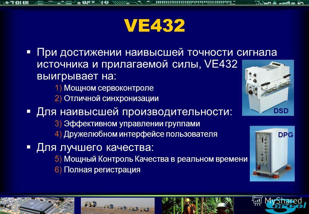 Полная регистрация данных VE432 Контроль качества вибратора и сопутствующая информация может быть экспортирована в виде SPS-подобных файлов для внешнего анализа качества Средние значения Контроля Качества для каждого вибратора Состояние Контроля Каче
