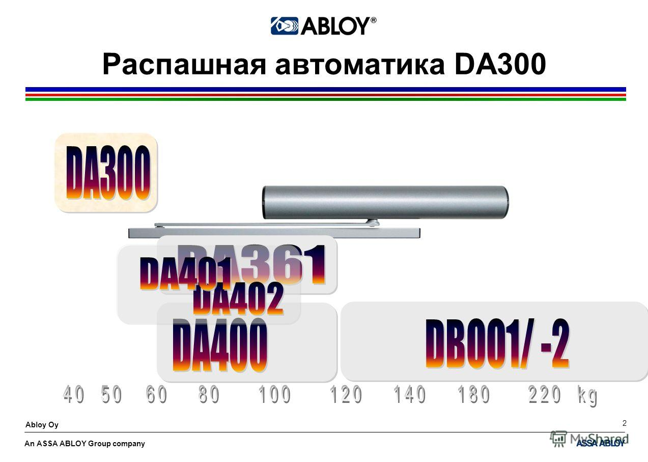 An ASSA ABLOY Group company Abloy Oy 2 Распашная автоматика DA300