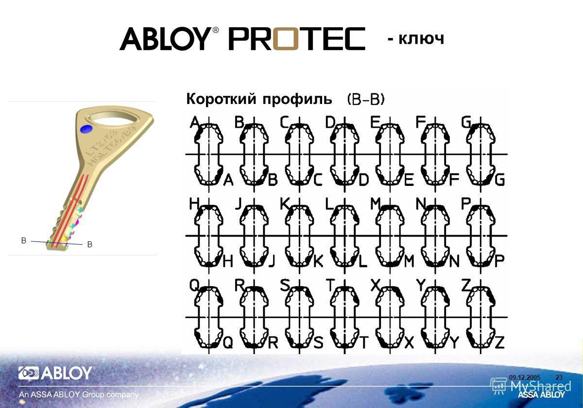 09.12.200523 - ключ B B Короткий профиль