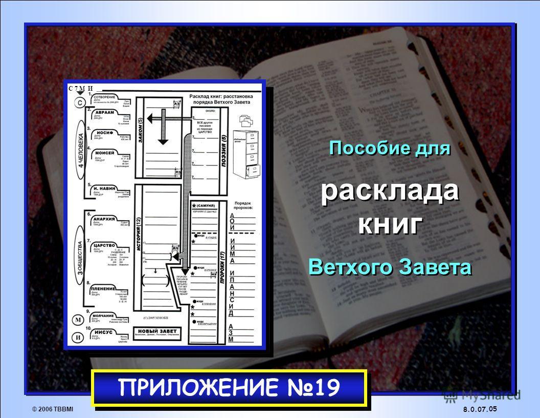 1 2 3 4 5 6 7 8 ЗАКОН ПОЭЗИЯ ПРОРОКИ ИСТОРИЯ Открытая Библия 04 8.0.07. © 2006 TBBMI