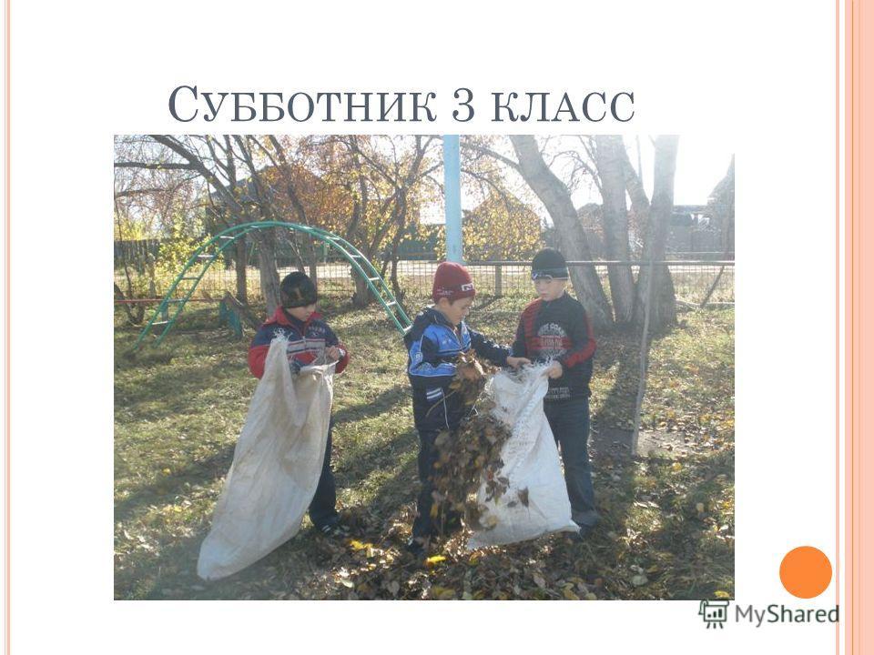 С УББОТНИК 3 КЛАСС