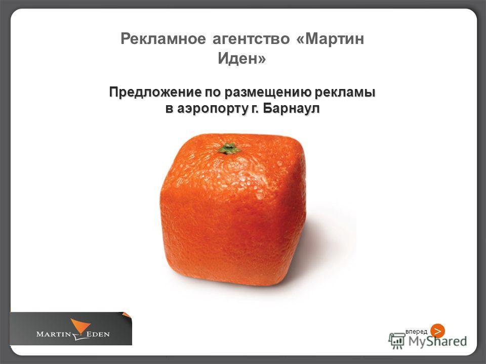 Рекламное агентство «Мартин Иден» Предложение по размещению рекламы в аэропорту г. Барнаул вперед >
