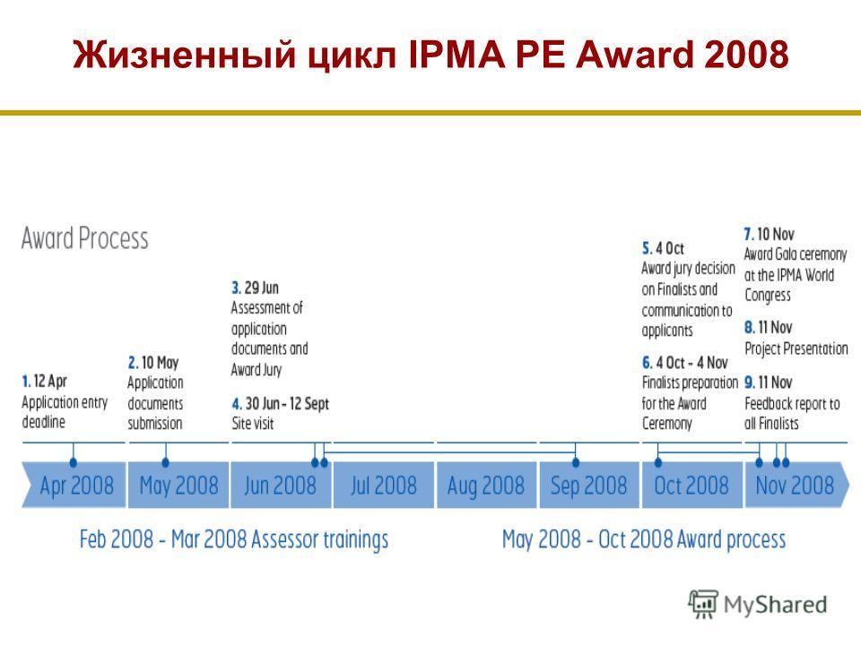 Жизненный цикл IPMA PE Award 2008