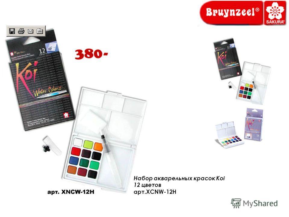 Набор акварельных красок Koi 12 цветов арт.XCNW-12H