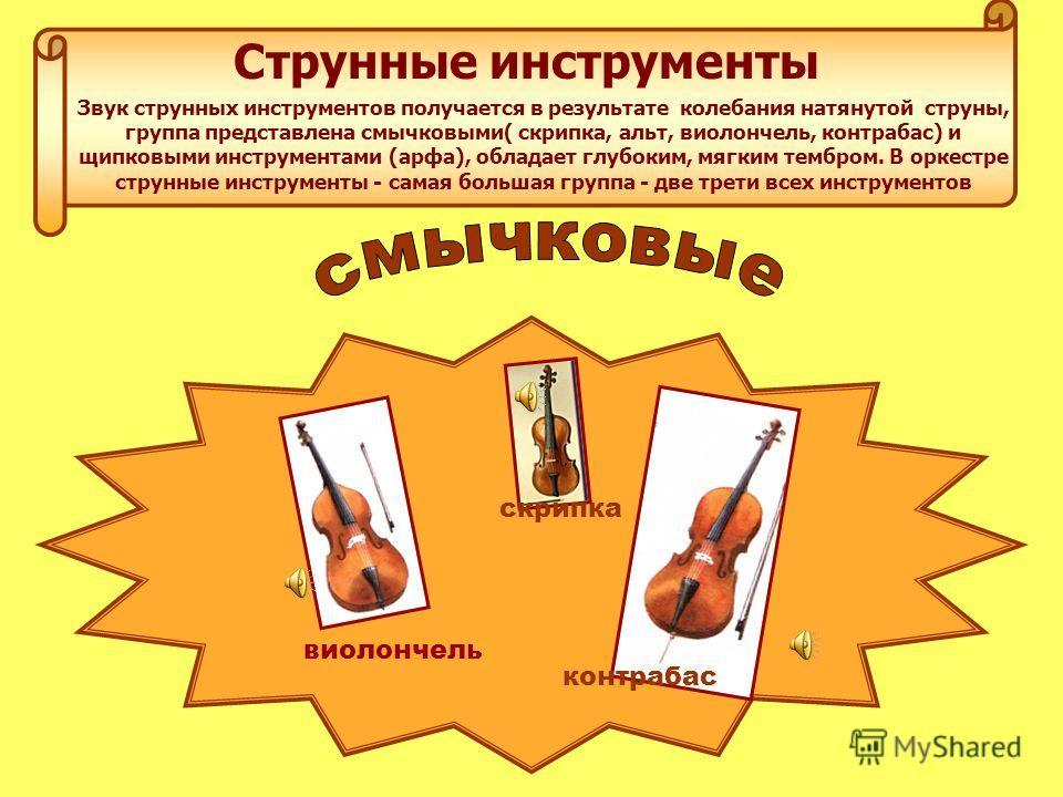 Группы инструментов симфонического оркестра