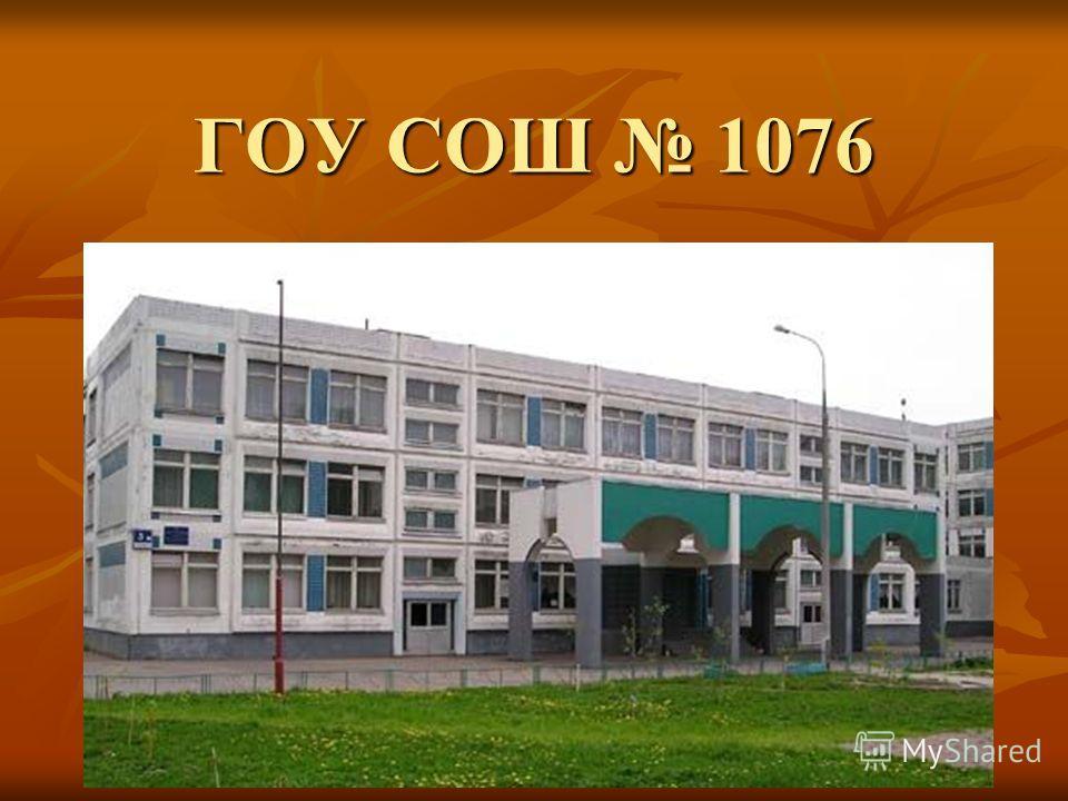 ГОУ СОШ 1076