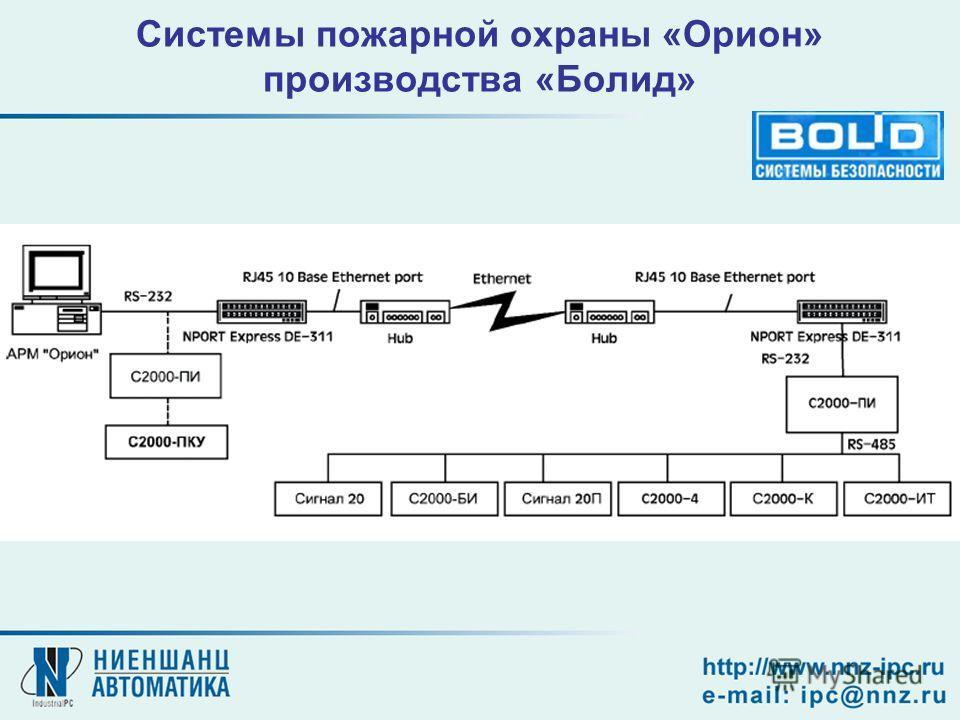 Системы пожарной охраны «Орион» производства «Болид»
