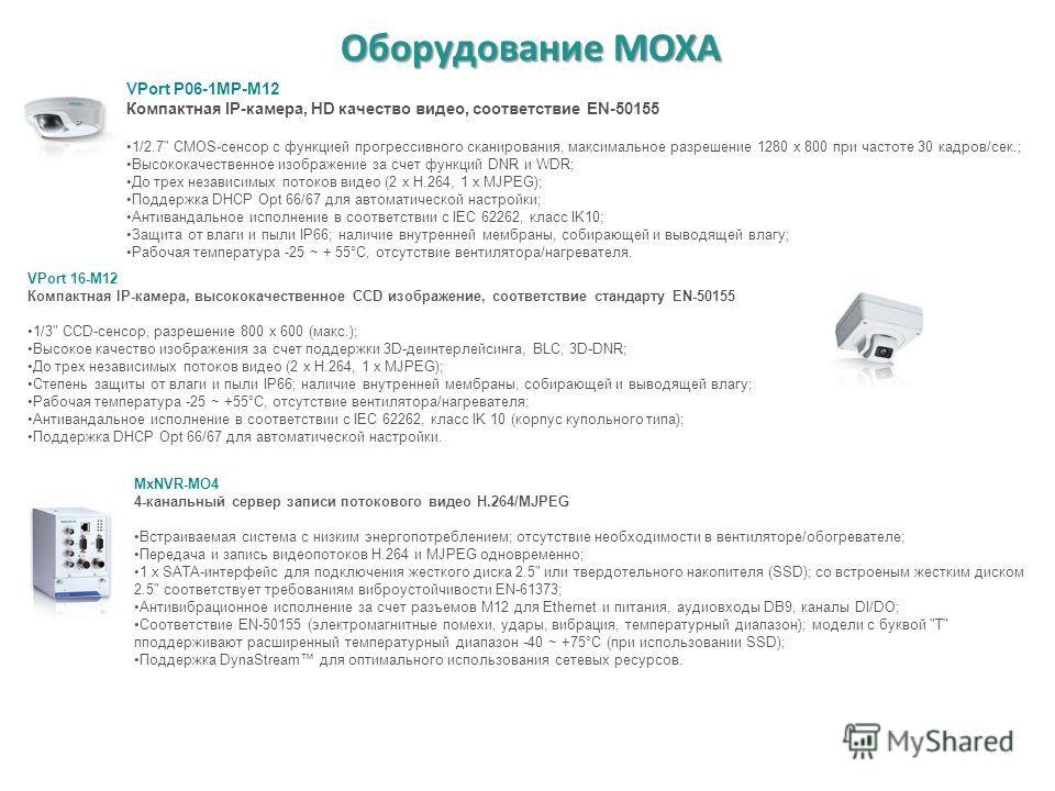 Оборудование MOXA VPort P06-1MP-M12 Компактная IP-камера, HD качество видео, соответствие EN-50155 1/2.7