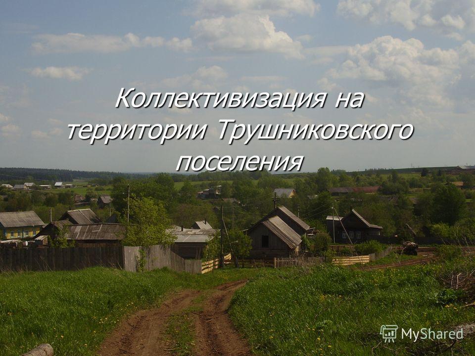 Коллективизация на территории Трушниковского поселения