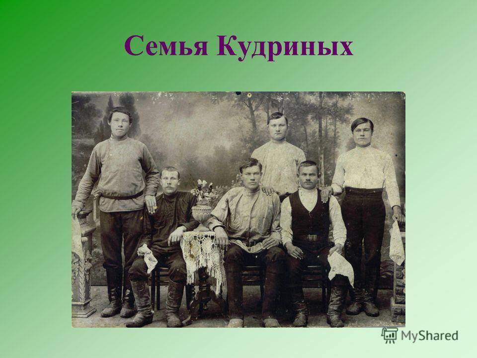 Семья Кудриных
