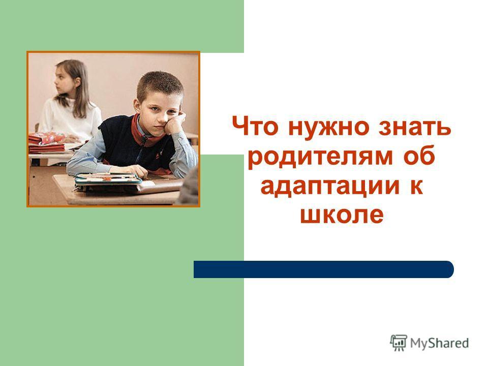 Что нужно знать родителям об адаптации к школе